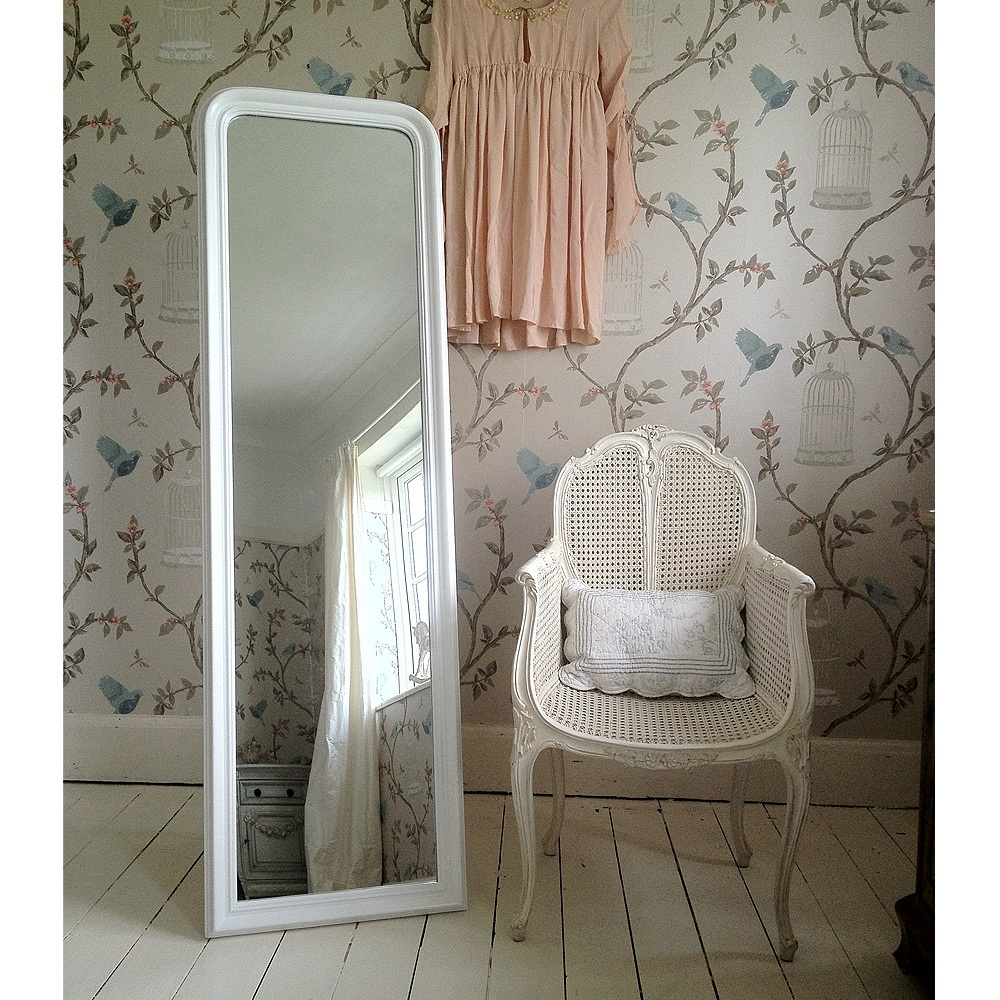 Blanc De Blancs Full Length White Mirror French Bedroom