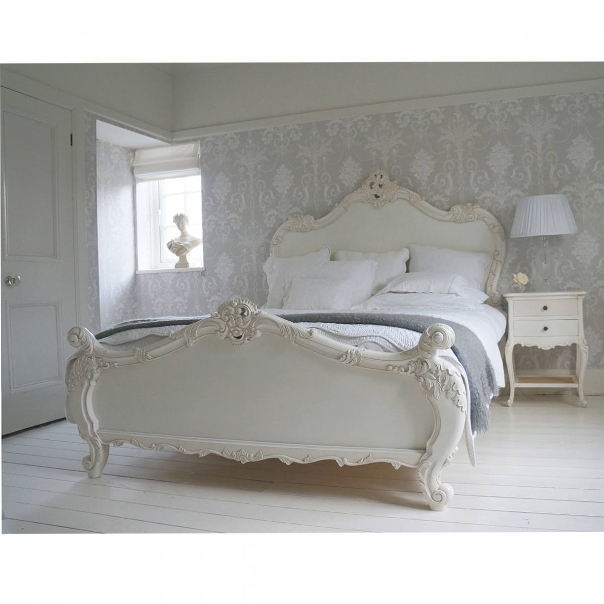 Provencal sassy white french bed french bedroom company for Furniture in french