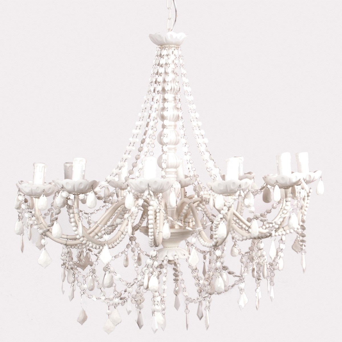 of ceiling height over 8 height from table top to bottom of chandelier