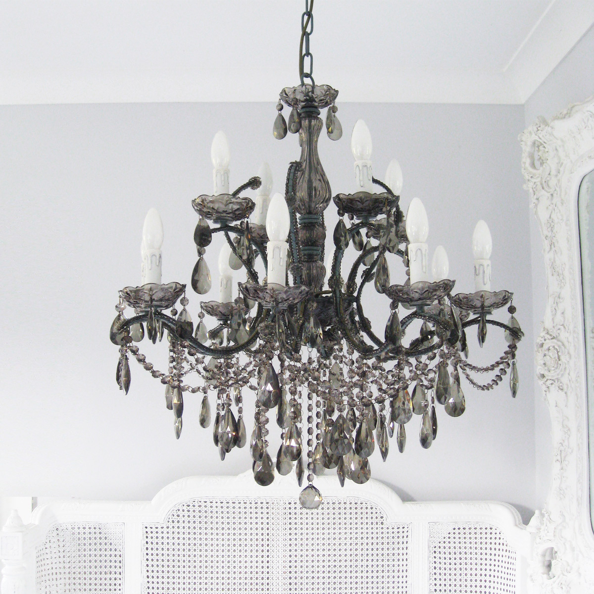 ballroom smoked glass french chandelier french bedroom