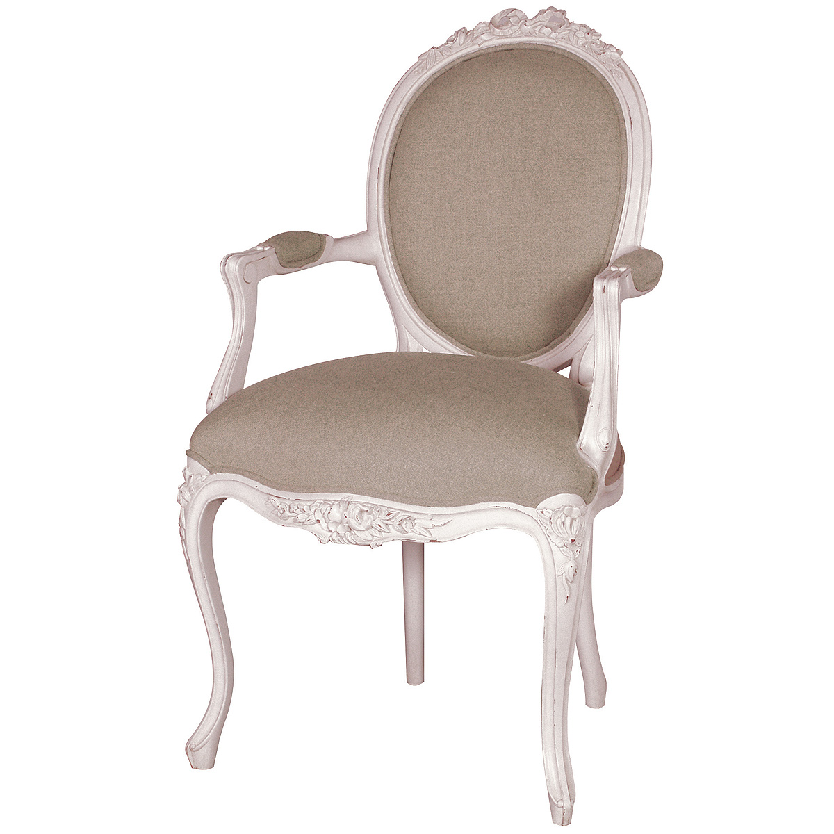 Provencal Linen Lady White Armchair French Bedroom Company