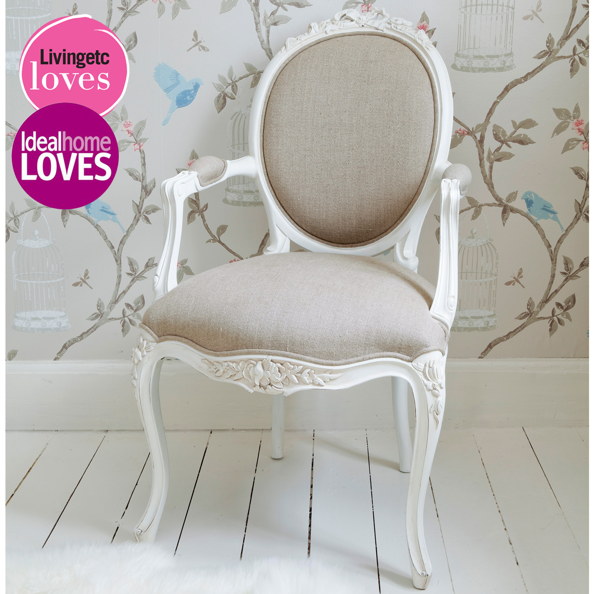 Chair Bedroom: Provencal Linen Lady White Armchair, French Bedroom Company