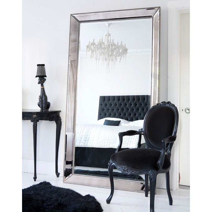Strictly studded huge floor mirror french bedroom company for Standing mirror for bedroom
