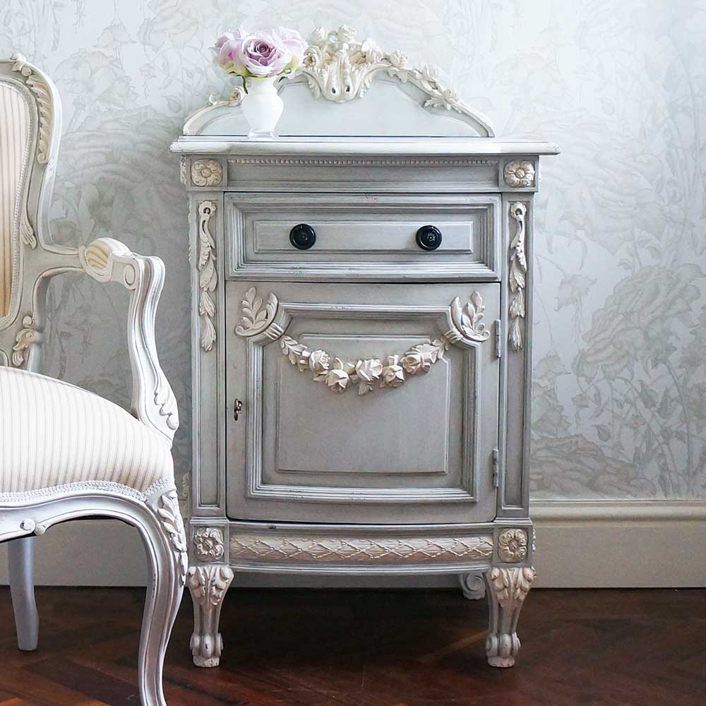 bonaparte blue french bedside table french bedroom company. Black Bedroom Furniture Sets. Home Design Ideas