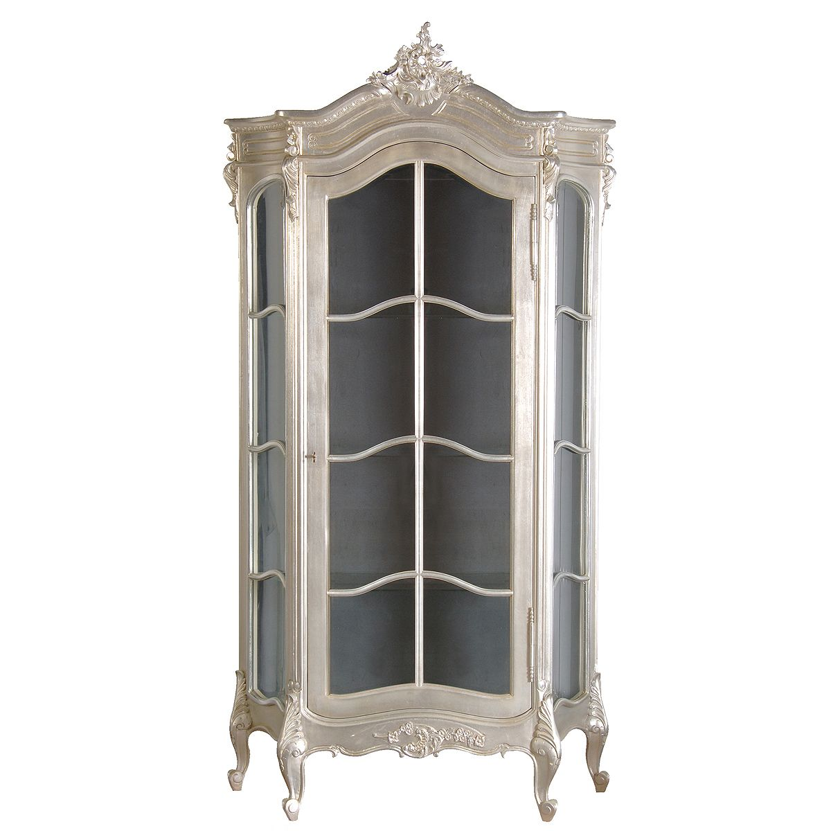 Sylvia Silver Display Cabinet French Bedroom Company
