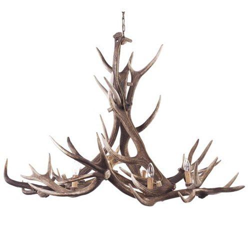 Fight Me Natural Antler Deer Chandelier French Bedroom