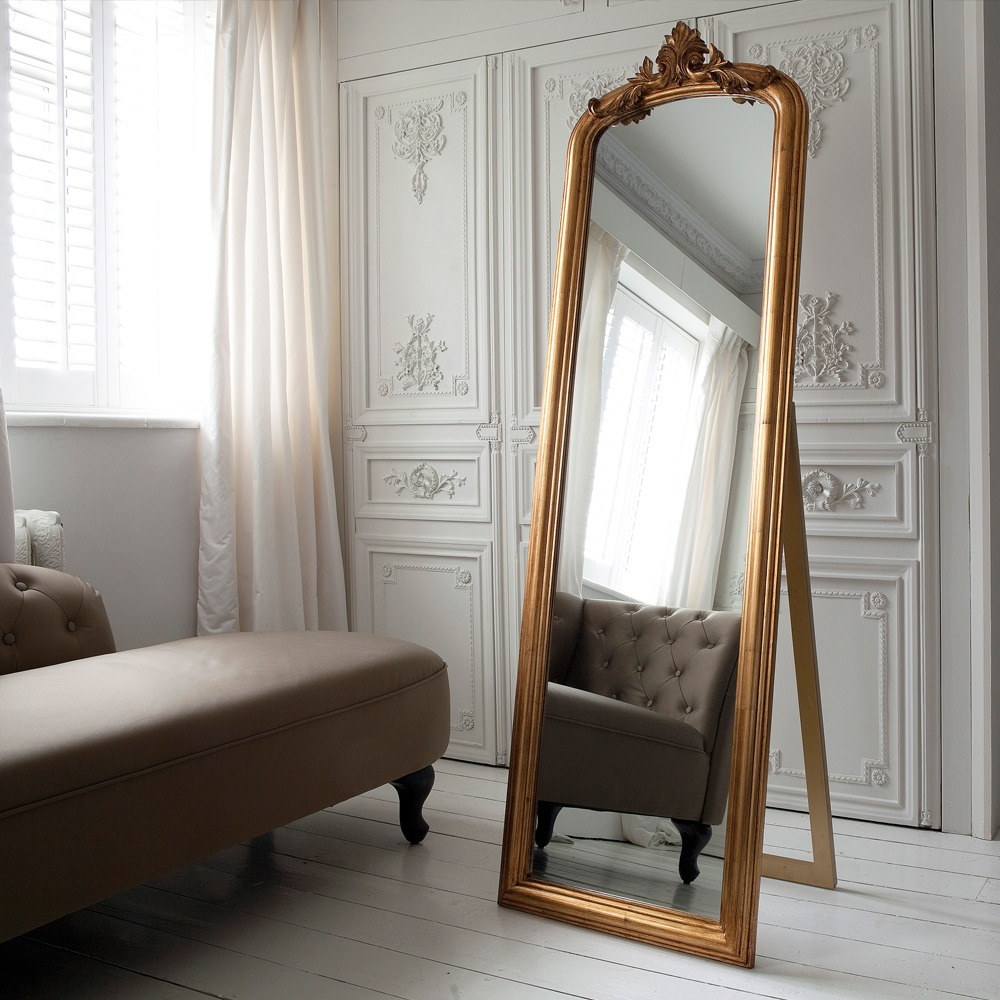 glorious gilt gold french mirror french bedroom company. Black Bedroom Furniture Sets. Home Design Ideas