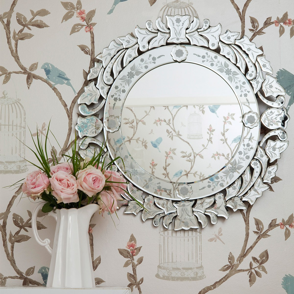 Fancy Floris Venetian Mirror, French Bedroom Company
