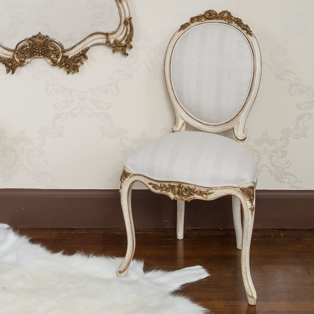 Palais French Ivory And Gold Chair French Bedroom Company