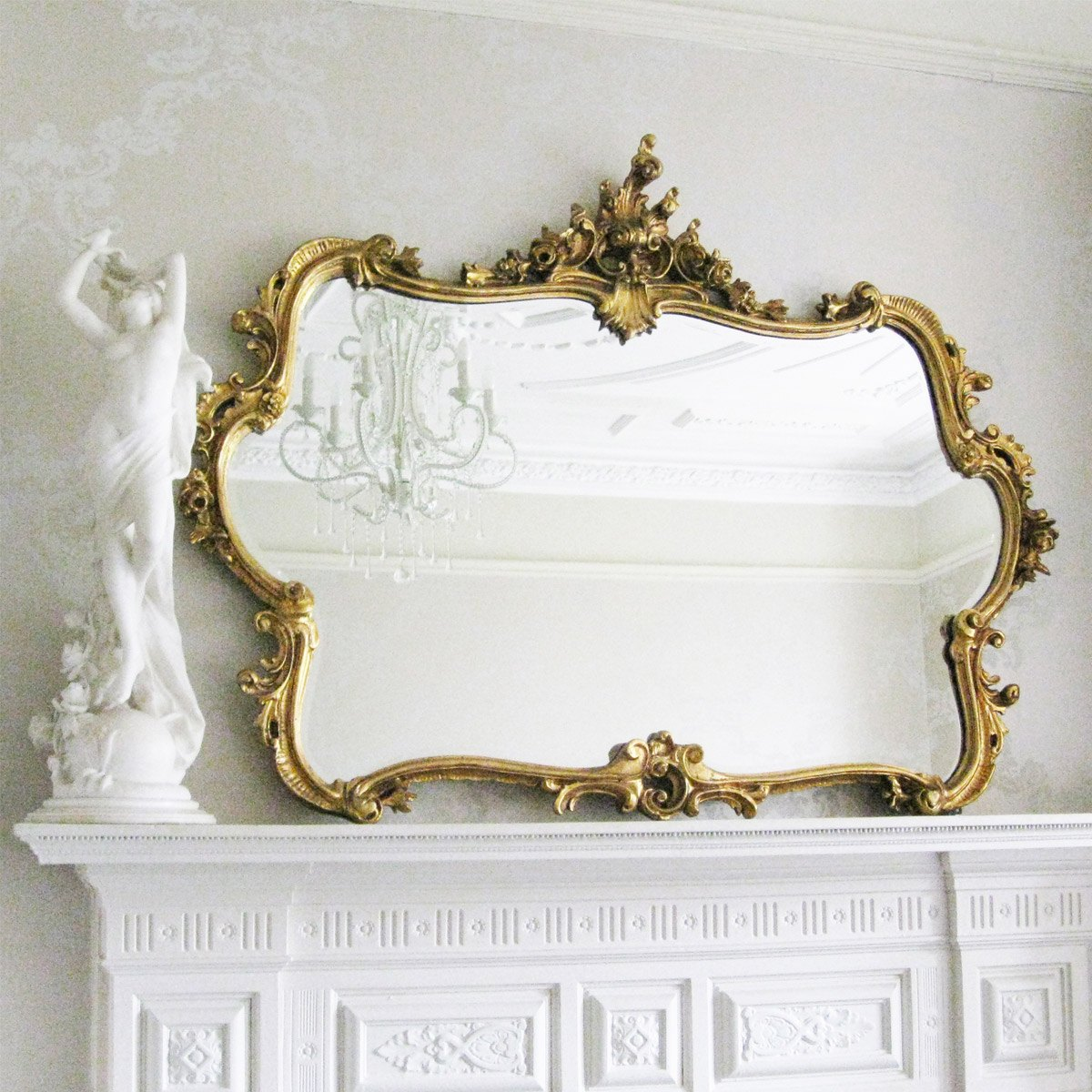 Miss lala 39 s gold looking glass french bedroom company for Looking for wall mirrors