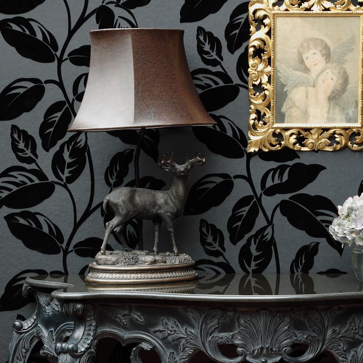 Bronze Figure Stag Elegant Lamp French Bedroom Company