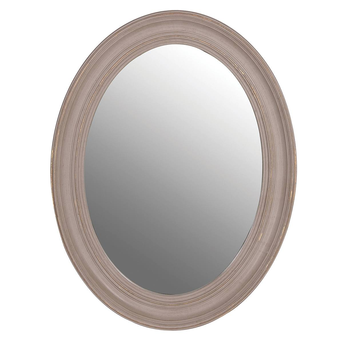 Ash grey oval mirror french bedroom company for Small wall mirrors
