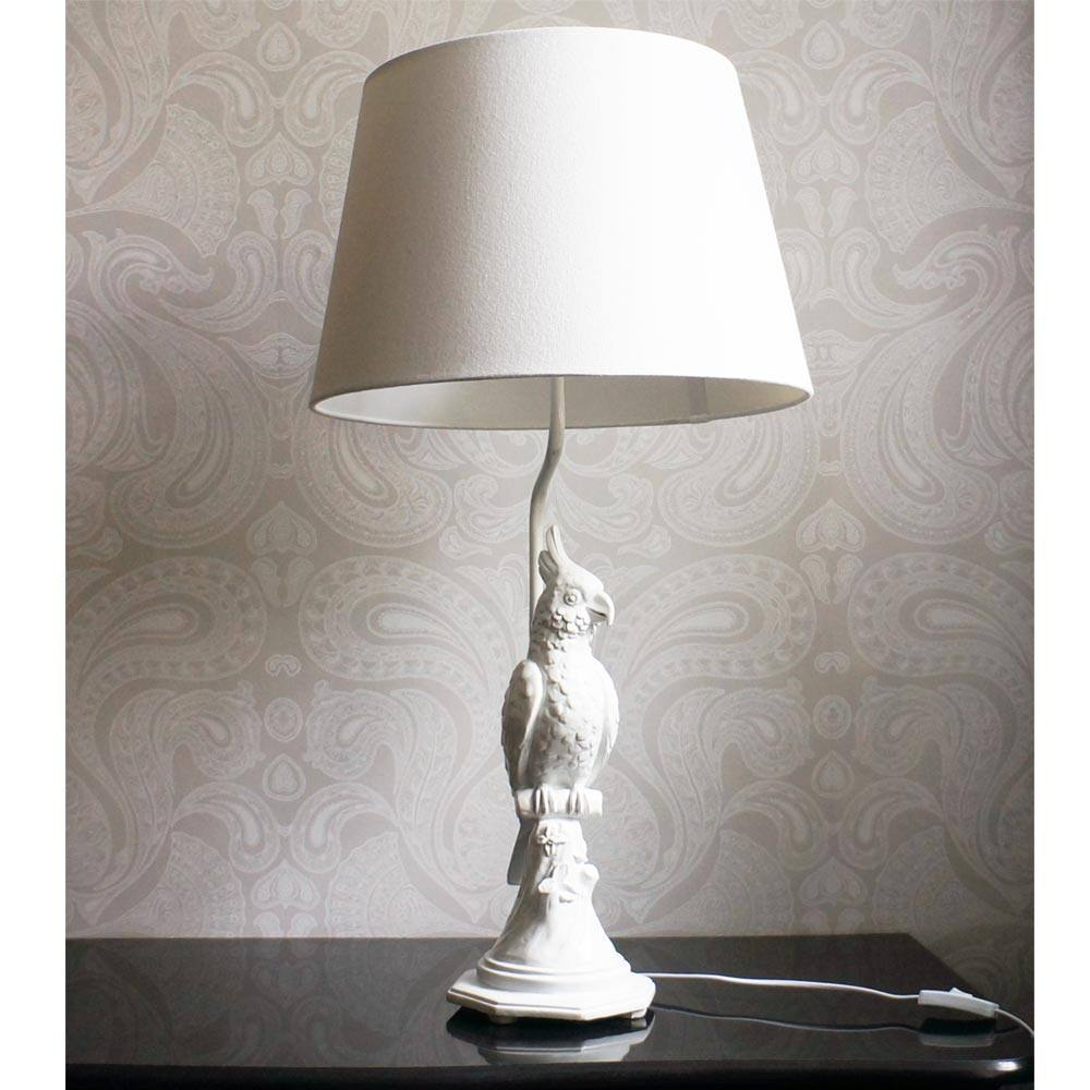 pretty polly parrot white table lamp french bedroom company