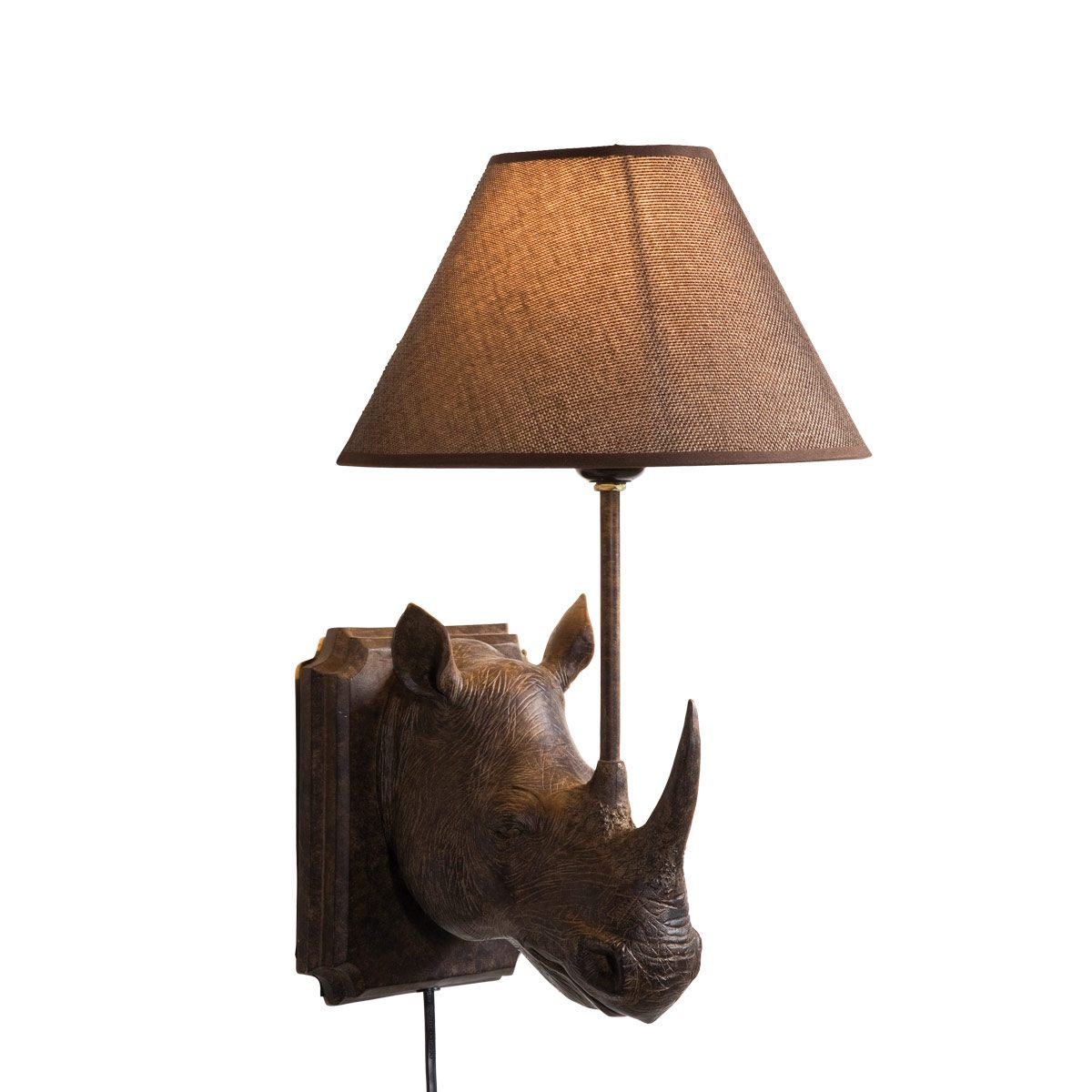 Rhino Bronze Animal Quirky Wall Lamp French Bedroom Company