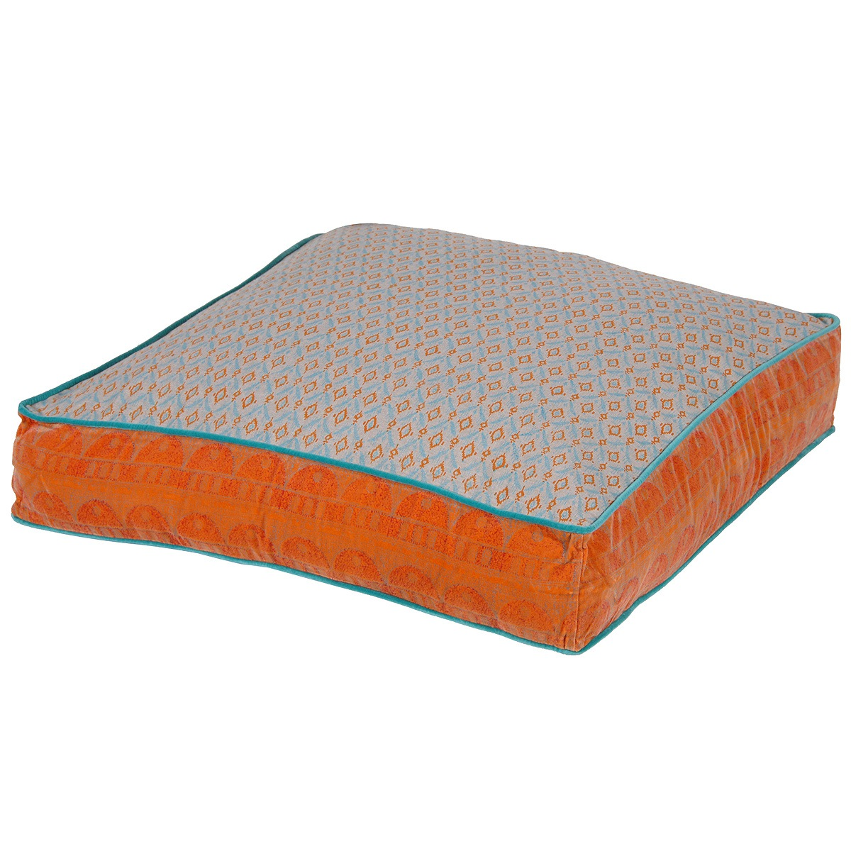 Floor Cushions Or Pillows : Large Festival Floor Cushion in Orange, French Bedroom Company