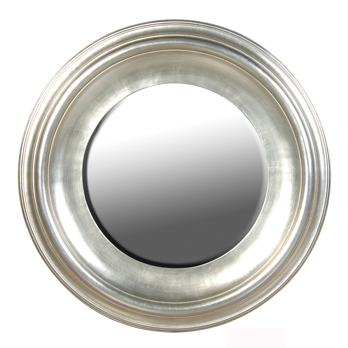 Sylvia silver large round mirror french bedroom company for Large silver wall mirror