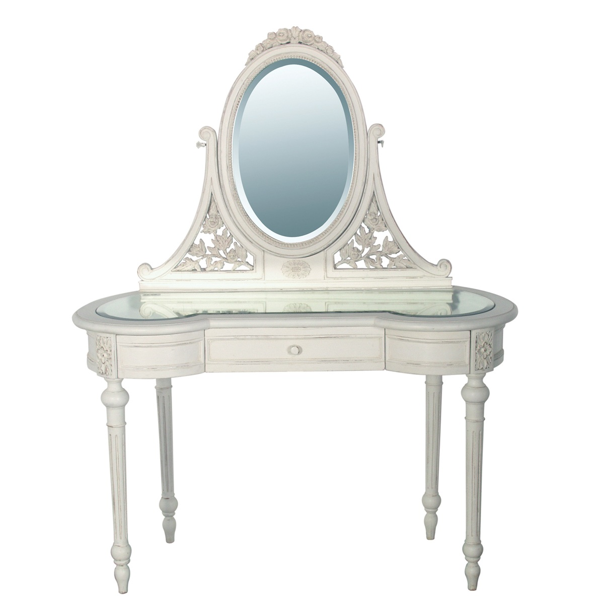 Provencal White Dressing Table, French Bedroom Company