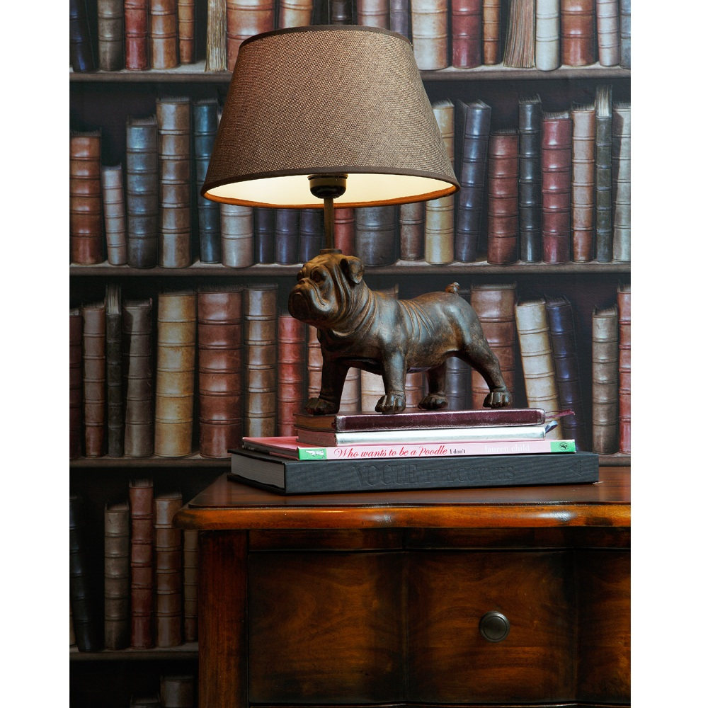 petit bouledogue bulldog table lamp french bedroom company. Black Bedroom Furniture Sets. Home Design Ideas
