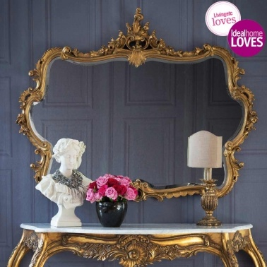 Miss Lala's Gold Looking Glass by The French Bedroom Company