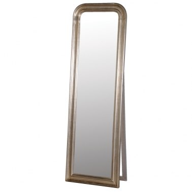 Sterling silver free standing dressing mirror french for Free standing bedroom mirrors