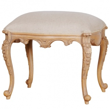 Antoinette Oak Dressing Stool