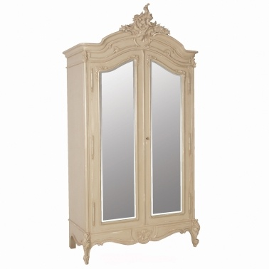 Normandy 2-Door Mirrored Armoire