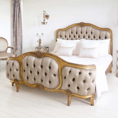 Versailles Curved Luxury Upholstered Bed by The French Bedroom Company