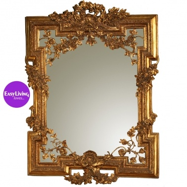 Francesca French Mirror in Gold