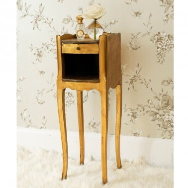 Versailles Dainty Gold Bedside Table