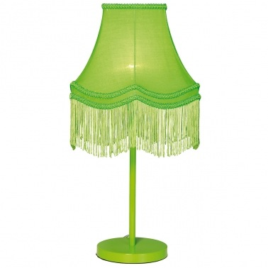 Fluoro Fringe Lime Green Table Lamp by The French Bedroom Company