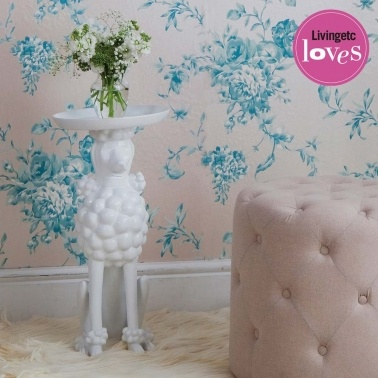 Obedient Poodle White Side Table