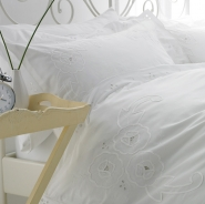 Camellia Luxury White Bed Linen