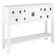 Rama & Sita White Console Table