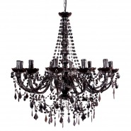 Buttress 12-arm Black Chandelier