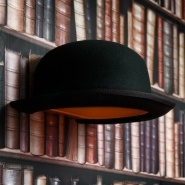 Jeeves Bowler Hat Wall Lamp, by Jake Phipps