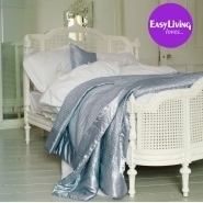 Lit Lit White Rattan Bed