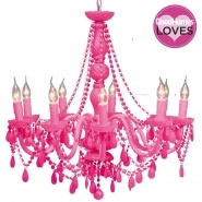 Popping Pink Chandelier