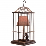 Cat in a Cage Table Lamp