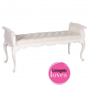 Provencal White Long Stool