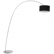 Belleville Arch Black Floor Lamp
