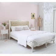 Provencal Velvet Upholstered Bed