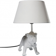 White Bouledogue Table Lamp