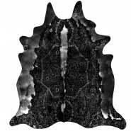 Persian Cowhide Rug in Black & White
