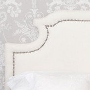 Layla Upholstered Headboard in Ivory