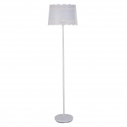 Large Lacey White Floor Lamp