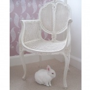 Provencal Rattan White Chair