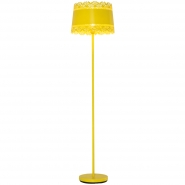 Large Lacey Yellow Floor Lamp