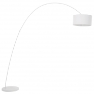 Belleville Arch White Floor Lamp