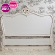 Provencal Louis XV White Headboard