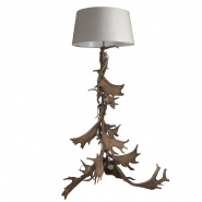 Fight Me Antler Floor Lamp